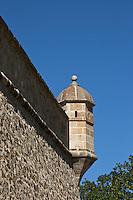 Europe/France/Languedoc-Roussillon/66/Pyrénées-Orientales/Cerdagne/Mont-Louis: La Citadelle Vauban inscrite au patrimoine mondial de l'humanité - Détail échauguette