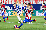 Atletico de Madrid's Kevin Gameiro during the match of La Liga Santander between Atletico de Madrid and Deportivo Alaves at Vicente Calderon Stadium. August 21, 2016. (ALTERPHOTOS/Rodrigo Jimenez)