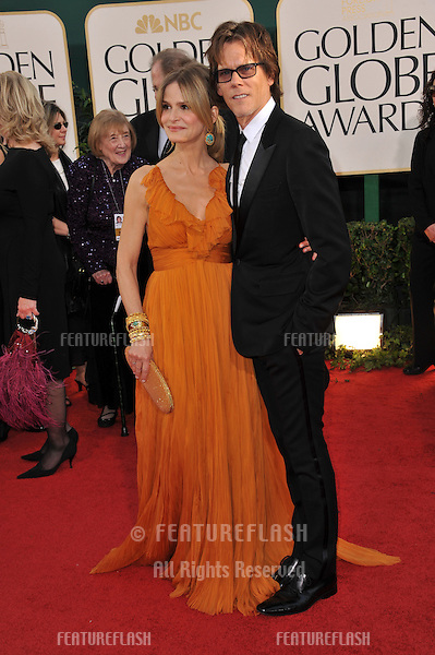 Kyra Sedgwick and Kevin Bacon at the 68th Annual Golden Globe Awards at the Beverly Hilton Hotel..January 16, 2011  Beverly Hills, CA.Picture: Paul Smith / Featureflash