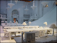 BNPS.co.uk (01202 558833)<br /> Pic: SnowBusiness/BNPS<br /> <br /> ***Please Use Full Byline***<br /> <br /> A scene from the Day After Tomorrow. <br /> <br /> Staff are celebrating their success in the way only they can...by turning a warm september day into a Xmas snow scene in seconds.<br /> <br /> The worlds biggest producer of snow is celebrating after another bumper year in which they have supplied the film and television industry with the white stuff from the unlikely headquarters near Stroud in Gloucestershire.<br /> <br /> The tiny British company are the first port of call for Hollywood producers when the on screen temperature drops and they can't wait on the weather - Recent credits include Maleficent, Snow White and the Huntsman and Philomena.<br /> <br /> Homegrown favourites like Dr Who and Downton are also customers, owner Darcy Crownshaw claims 'Everywhere you go the snow you see will probably be ours, from Harrods and Selfridges shop windows to the adverts and programmes on your television and films at the cinema.'
