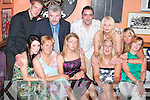 Published Caption: Reunion: Enjoying the Lynch family reunion aftermath on Sunday night in The Huddle Bar. In front from left, Olivia Riordan, Marian and Amy Fitzgerald, Lorraine and Kay Lynch. Back from left, David and Michael Fitzgerald, Paul OConnor, Laura Fitzgerald and Michelle Lynch.`.Photoshop Caption: No Photoshop Caption