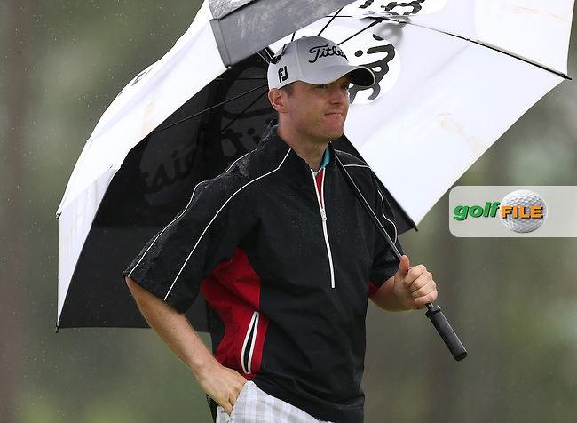 Michael Hoey (NIR) Round One disrupted by wet and windy weather of The Nelson Mandela Championship 2013 presented by ISPS Handa, at the Mount Edgecombe Country Club, KwaZulu-Natal, South Africa. Picture:  David Lloyd / www.golffile.ie