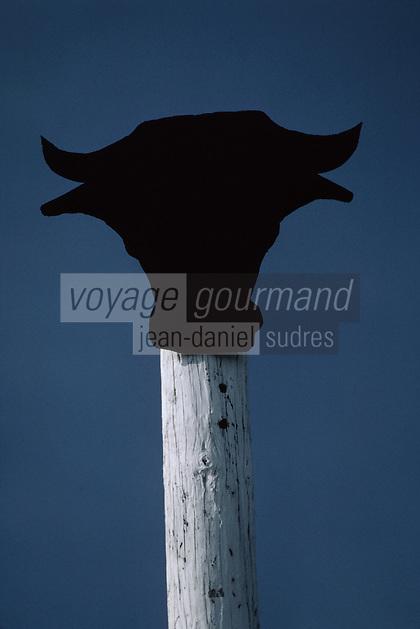 Europe/France/Provence-Alpes-Côtes d'Azur/13/Bouches-du-Rhône/Parc Naturel Régional de Camargue: Cabane de gardian - Détail