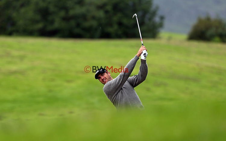 Daniel Pearce during the Autex Muriwai Open, Round One, Charles Tour, Muriwai Golf Course, Auckland, New Zealand. Thursday 30 April 2015. Photo: Simon Watts/www.bwmedia.co.nz <br /> All images &copy; NZ Golf and BWMedia.co.nz New Zealand Golf Images:<br /> Any use of New Zealand Golf images must have prior written approval of New Zealand Golf.