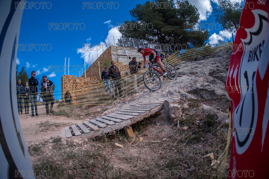 Chelva, SPAIN - MARCH 6: Miguel Sanzol during Spanish Open BTT XCO on March 6, 2016 in Chelva, Spain