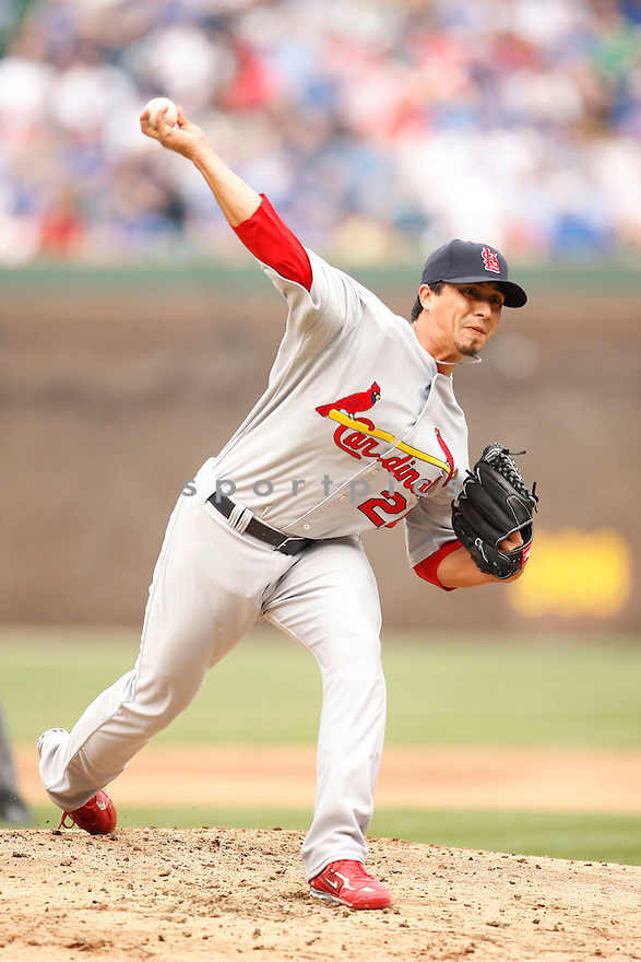 KYLE LOHSE, of the St. Louis Cardinals in action during the Cardinals game against the Chicago Cubs  in Chicago, IL, on April 18, 2009. Cubs won 7-5..