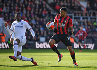 29th February 2020; Vitality Stadium, Bournemouth, Dorset, England; English Premier League Football, Bournemouth Athletic versus Chelsea; Fikayo Tomori of Chelsea defends the shot from Callum Wilson of Bournemouth
