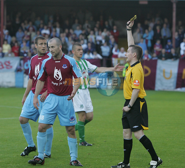 Action from the Drogheda United V Bray Wanders match in United Park Drogheda....Photo: Fran Caffrey/ Newsfile.