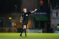 Referee Robert Jones during the Sky Bet League 2 match between Wycombe Wanderers and Yeovil Town at Adams Park, High Wycombe, England on 14 January 2017. Photo by Andy Rowland / PRiME Media Images.