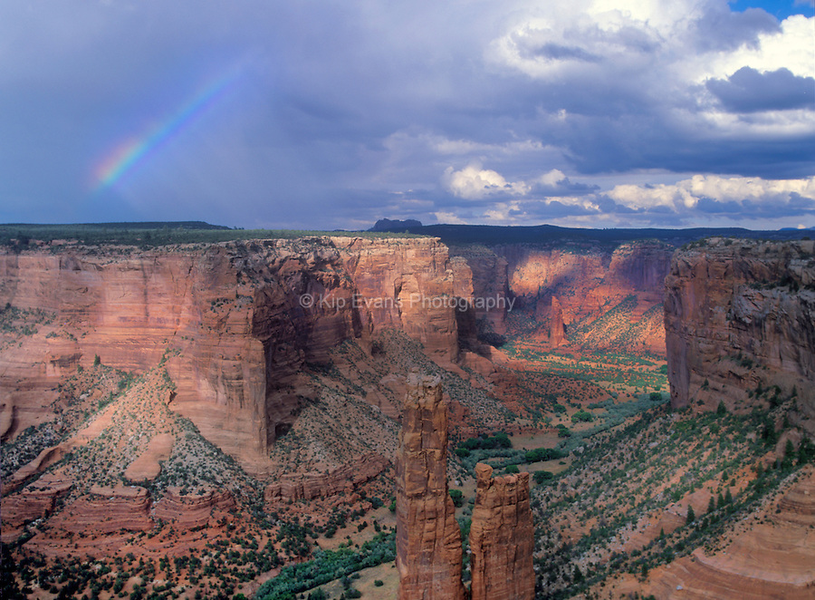 Rainbow over the Painted Desert - Arizona.