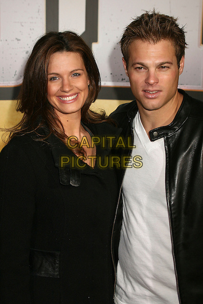 "HEIDI ARNOLD & GEORGE STULTS .""Wild Hogs"" Los Angeles Premiere at the El Capitan Theatre, Hollywood, California, USA..February 27th, 2007.half length black jacket .CAP/ADM/BP.©Byron Purvis/AdMedia/Capital Pictures"