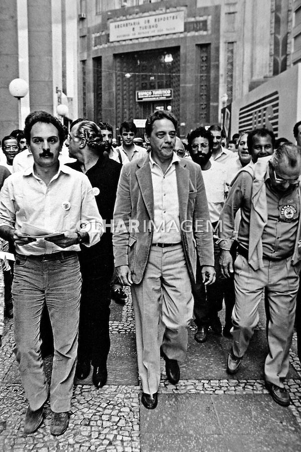 Fernando Henrique Cardoso, fhc em campanha politica. SP. 1985. Foto de Juca Martins.