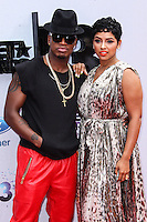 LOS ANGELES, CA - JUNE 30: Ne-Yo and RaVaughn Brown attend the 2013 BET Awards at Nokia Theatre L.A. Live on June 30, 2013 in Los Angeles, California. (Photo by Celebrity Monitor)