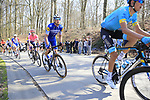 The peloton including Zdenek Stybar (CZE) Deceuninck-Quick Step climb La Houppe during the 2019 E3 Harelbeke Binck Bank Classic 2019 running 203.9km from Harelbeke to Harelbeke, Belgium. 29th March 2019.<br /> Picture: Eoin Clarke | Cyclefile<br /> <br /> All photos usage must carry mandatory copyright credit (© Cyclefile | Eoin Clarke)