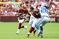 Landover, MD - September 16, 2018: Washington Redskins running back Chris Thompson (25) follow his block during the  game between Indianapolis Colts and Washington Redskins at FedEx Field in Landover, MD.   (Photo by Elliott Brown/Media Images International)