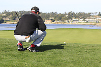 Jon Rahm (ESP) at the 7th green during Sunday's Final Round of the 2018 AT&amp;T Pebble Beach Pro-Am, held on Pebble Beach Golf Course, Monterey,  California, USA. 11th February 2018.<br /> Picture: Eoin Clarke | Golffile<br /> <br /> <br /> All photos usage must carry mandatory copyright credit (&copy; Golffile | Eoin Clarke)
