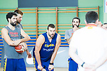 (L to R) Javier Beiran, Willy hernan Gomez, Marc Gasol and Ricky Rubio during the training of Spanish National Team of Basketball in Madrid previous to World Cup in China . August 21, 2019. (ALTERPHOTOS/Francis González)
