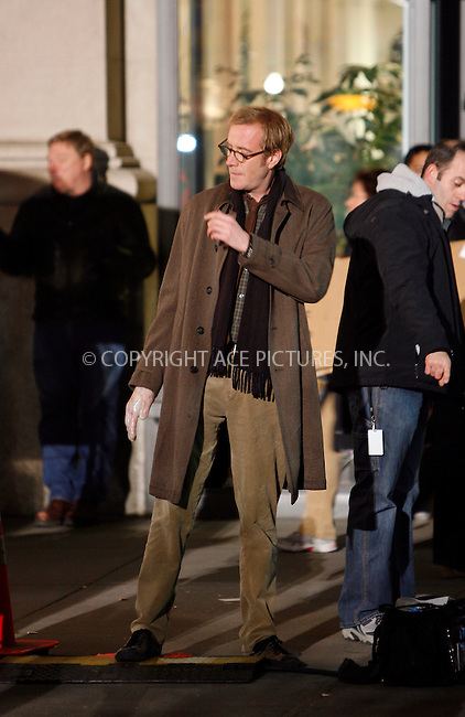 WWW.ACEPIXS.COM . . . . .  ....November 18 2011, New York City....Actor Rhys Ifans wears a prosthetic hand during a scene in the new Spderman movie on Novemeber 18 2011 in New York City....Please byline: CURTIS MEANS - ACE PICTURES.... *** ***..Ace Pictures, Inc:  ..Philip Vaughan (212) 243-8787 or (646) 679 0430..e-mail: info@acepixs.com..web: http://www.acepixs.com