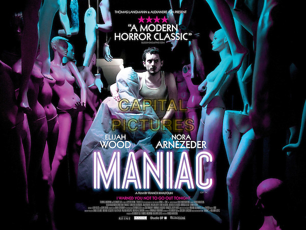 BRITISH POSTER ART<br /> in Maniac (2012) <br /> *Filmstill - Editorial Use Only*<br /> CAP/FB<br /> Image supplied by Capital Pictures