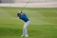 Adri Arnaus (ESP) on the 9th during Round 1 of the Oman Open 2020 at the Al Mouj Golf Club, Muscat, Oman . 27/02/2020<br /> Picture: Golffile   Thos Caffrey<br /> <br /> <br /> All photo usage must carry mandatory copyright credit (© Golffile   Thos Caffrey)