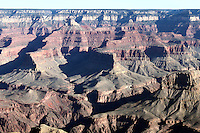 A view of beautiful rock formations at Grand Canyon, Arizona from the Grand View Point, in South rim.