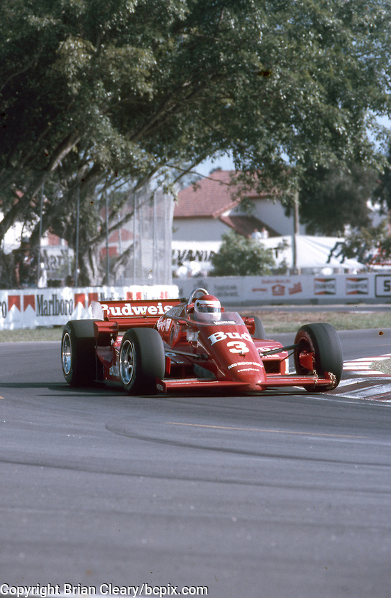 #3 March 85C Cosworth, Bobby Rahal, 2nd place, Beatrice Indy Challenge, Tamiami Park, Miami, FL, November 9, 1985.  (Photo by Brian Cleary/www.bcpix.com)
