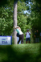 Brooke M. Henderson (CAN) watches her tee shot on 16 during Saturday's round 3 of the 2017 KPMG Women's PGA Championship, at Olympia Fields Country Club, Olympia Fields, Illinois. 7/1/2017.<br /> Picture: Golffile | Ken Murray<br /> <br /> <br /> All photo usage must carry mandatory copyright credit (&copy; Golffile | Ken Murray)
