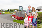 John & Emma Shanahan from Valentia Island Caravan & Camping site in Knightstown with their girls Amy Rose, Kara & Casey.