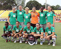 Starting eleven of Abby's XI during the WPS All-Star game against Marta's XI at the KSU Stadium in Kennesaw, Georgia on June 30 2010. Marta XI won 5-2.