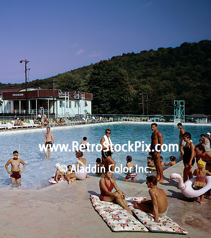 People enjoying by pool