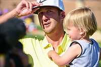 Kevin Chappell (USA) is interviewed after winning the 2017  Valero Texas Open, AT&amp;T Oaks Course, TPC San Antonio, San Antonio, Texas, USA. 4/23/2017.<br /> Picture: Golffile | Ken Murray<br /> <br /> <br /> All photo usage must carry mandatory copyright credit (&copy; Golffile | Ken Murray)