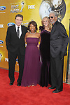 LOS ANGELES, CA. - February 26: Roderick Spencer, actress Alfre Woodard, producer Lori McCreary and actor Morgan Freeman (L-R) arrive at the 41st NAACP Image Awards at The Shrine Auditorium on February 26, 2010 in Los Angeles, California.