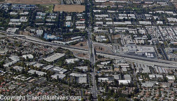 aerial photograph Moffett Field, Mountain View, California
