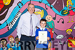 Principal of CBS Clounalour Denis Griffin pictured with sixth class pupil Ciaran Breen who graduated from primary school on Friday.