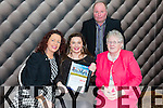 Caoimhe O'Sullivan from Waterville  with her family after she was presented with the Lee Strand-Kerry Garda Youth Acheivement Merit Award on Friday night in Ballyroe Heights Hotel. Pictured Brenda O'Sullivan, Caoimhe O'Sullivan, Pauline Sugrue, Back Miles O'Sullivan