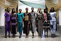 ABUJA, NIGERIA MAY 26: Models rehearse backstage before a fashion show launching ECOWAS fashion week on May 26, 2013 in Abuja, Nigeria. Nigerian and invited African designers showcased their collections during one night only show. (Photo by: Per-Anders Pettersson)