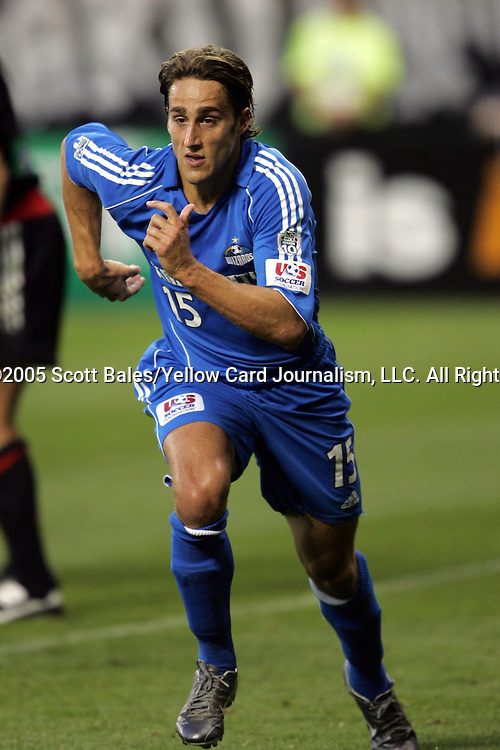 21 May 2005: Kansas City's Josh Wolff. DC United defeated the Kansas City Wizards 3-2 at RFK Stadium in Washington, DC in a regular season Major League Soccer game. .