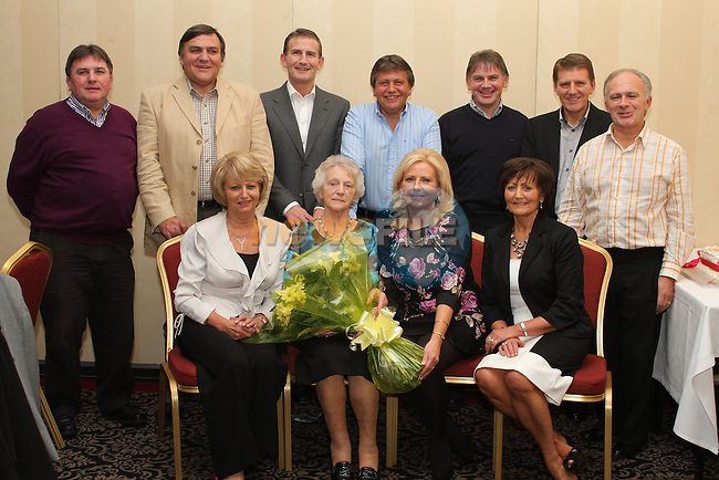 Nancy Delaney with her sons Peter, Joe, Larry, Paul, Jim, John and Michael and her daughters Margaret, Marie and Kathleen at her 85th birthday in The Westcourt hotel...(Photo credit should read Jenny Matthews www.newsfile.ie)....This Picture has been sent you under the conditions enclosed by:.Newsfile Ltd..The Studio,.Millmount Abbey,.Drogheda,.Co Meath..Ireland..Tel: +353(0)41-9871240.Fax: +353(0)41-9871260.GSM: +353(0)86-2500958.email: pictures@newsfile.ie.www.newsfile.ie.