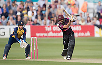 Babar Azam of Somerset CCC drives through extra cover during Essex Eagles vs Somerset, Vitality Blast T20 Cricket at The Cloudfm County Ground on 7th August 2019