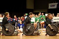 Opening Ceremony - Andrew Edmondson(Aus)<br /> Australian Wheelchair Rugby Team<br /> 2018 IWRF WheelChair Rugby <br /> World Championship / Day 1<br /> Sydney  NSW Australia<br /> Sunday 5th August 2018<br /> &copy; Sport the library / Jeff Crow / APC