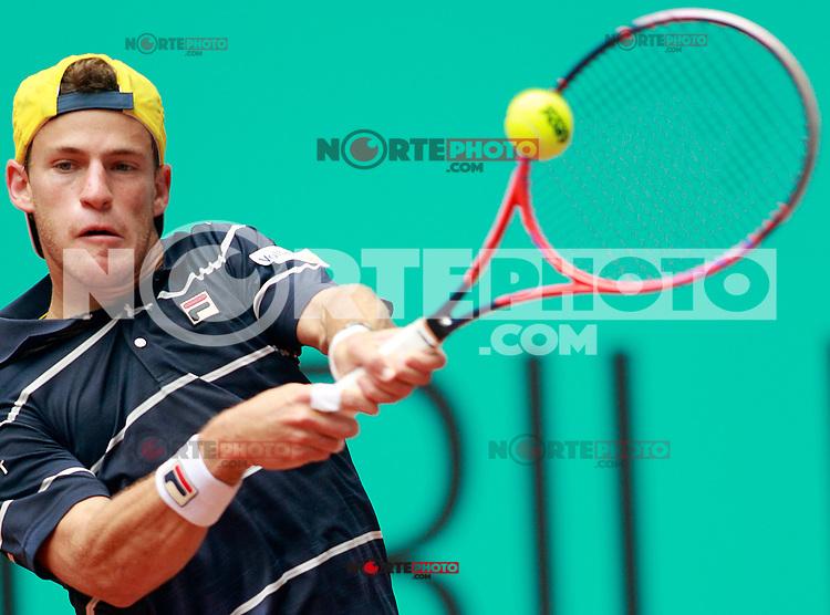 Diego Schwartzman, Argentina, during Madrid Open Tennis 2018 match. May 7, 2018.(ALTERPHOTOS/Acero) /NortePhoto.com