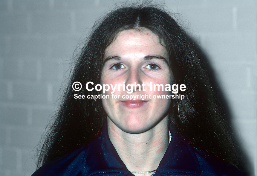 Brenda Thompson, squash player, Irish International, 198101000014BT..Copyright Image from Victor Patterson, 54 Dorchester Park, Belfast, United Kingdom, UK...For my Terms and Conditions of Use go to http://www.victorpatterson.com/Victor_Patterson/Terms_%26_Conditions.html