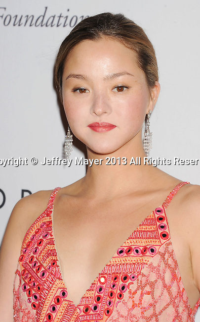 CULVER CITY, CA- NOVEMBER 09: Actress/model Devon Aoki  arrives at the 2nd Annual Baby2Baby Gala at The Book Bindery on November 9, 2013 in Culver City, California.