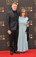 Bill Pullman and Sally Field at the Olivier Awards 2019, Royal Albert Hall, Kensington Gore, London, England, UK, on Sunday 07th April 2019.<br /> CAP/CAN<br /> ©CAN/Capital Pictures