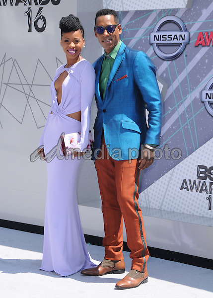 26 June 2016 - Los Angeles. Danielle Monae Truitt, Orlando Jones. Arrivals for the 2016 BET Awards held at the Microsoft Theater. Photo Credit: Birdie Thompson/AdMedia