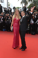 Nicole Kempel and Antonio Banderas <br /> Festival del Cinema di Cannes 2015<br /> Foto Panoramic / Insidefoto