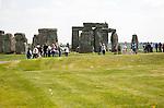 World Heritage henge neolithic site of standing stones at Stonehenge, Amesbury, Wiltshire, England, UK
