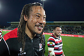 Tana Umaga is still all smiles after having the ice box emptied over his head by the players. ITM Cup and Ranfurly Shield rugby game between Hawke's Bay Magpies and Counties Manukau Steelers, played at McLean Park Napier on September 7th 2013.  Counties Manukau won the game 27 - 24 after trailing 16 - 14 at halftime. With the win Counties Manukau claimed the Ranfurly Shield for the first time in the Union history.