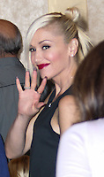 LOS ANGELES, CA - SEPTEMBER 29: Singer Gwen Stefani sighted on September 29, 2013 in Hollywood, Los Angeles, California. (Photo by Xavier Collin/Celebrity Monitor)