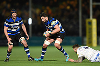 Elliott Stooke of Bath Rugby in possession. Aviva Premiership match, between Worcester Warriors and Bath Rugby on January 5, 2018 at Sixways Stadium in Worcester, England. Photo by: Patrick Khachfe / Onside Images